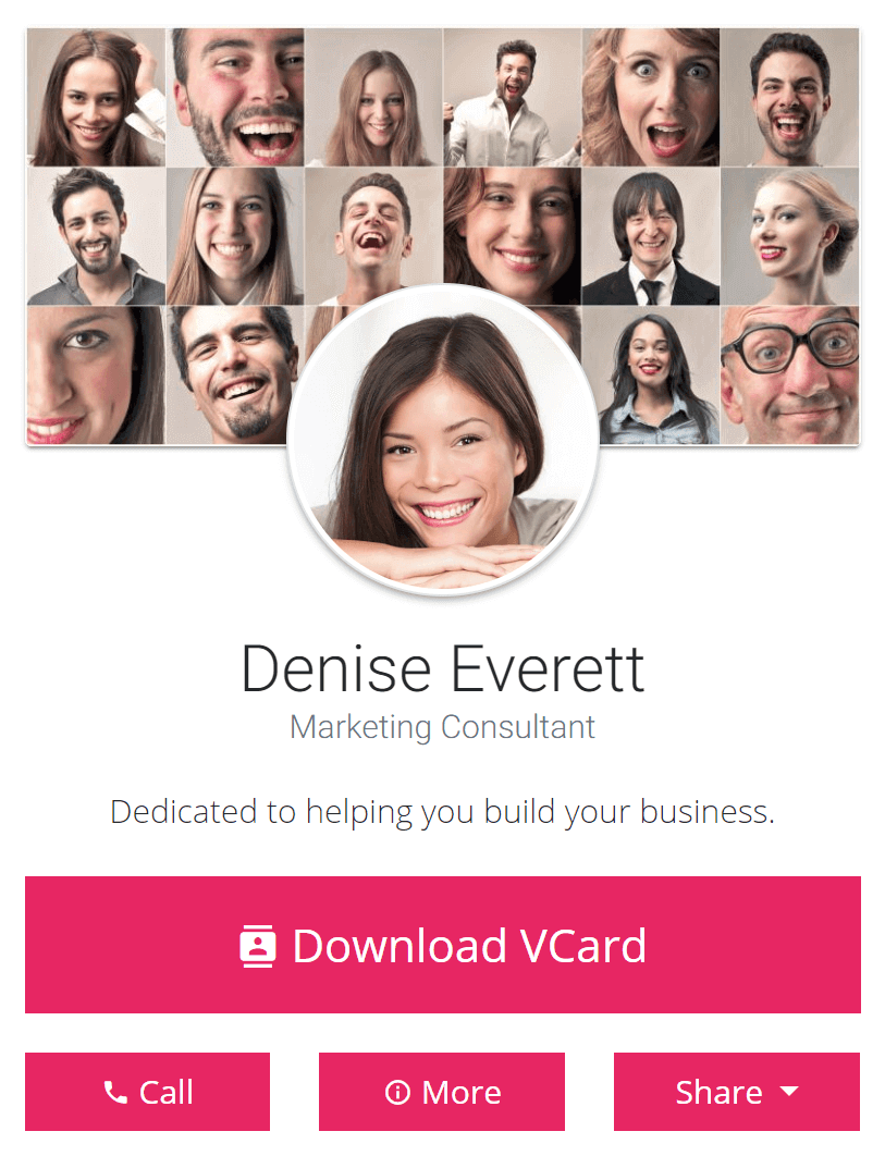 Promote yourself with a virtual business card