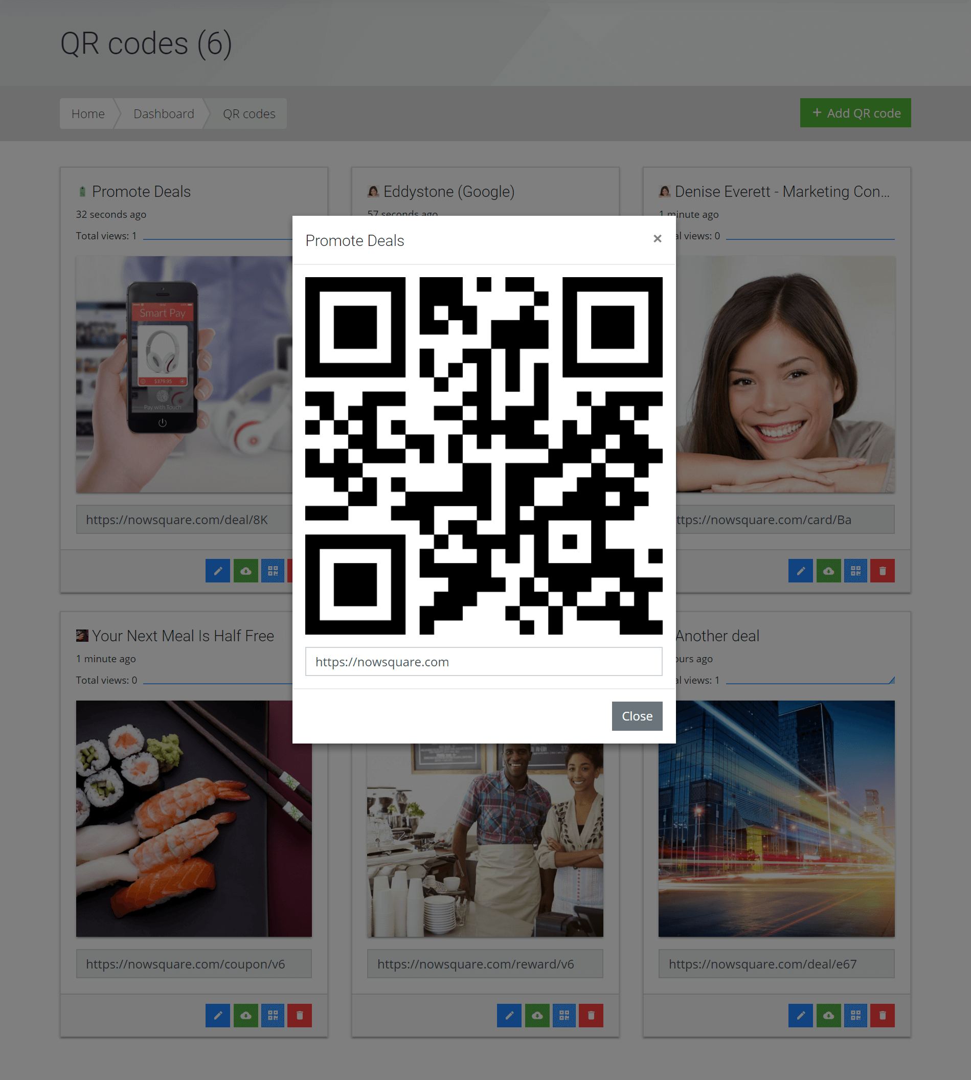 QR codes Plateforme Mabalise